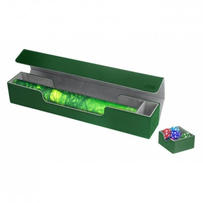 Tapis de Jeu Accessoires Pour Cartes Deck Box Ultimate Guard - Flip'n'tray Play Mat Xenoskin - Vert