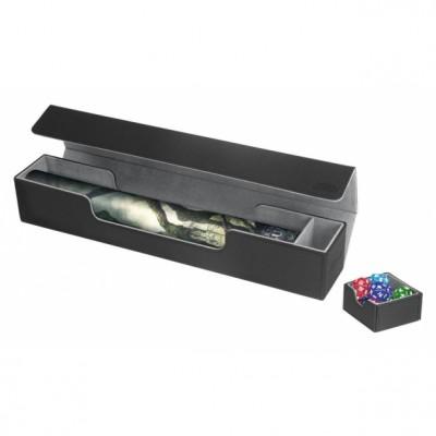 Tapis de Jeu Accessoires Pour Cartes Deck Box Ultimate Guard - Flip'n'tray Play Mat Xenoskin - Noir