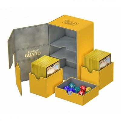 Boites de Rangements Accessoires Pour Cartes Deck Box Ultimate Guard - Double 160 - Jaune - T3+ - Acc