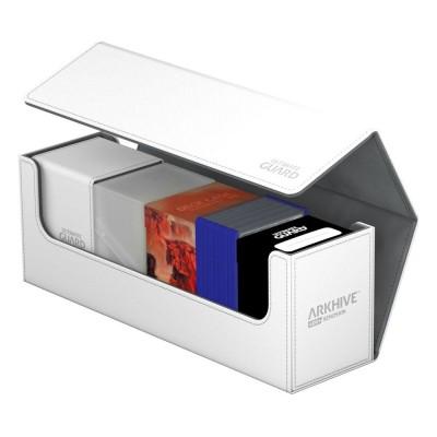 Boites de Rangements Accessoires Pour Cartes Deck Box - ArkHive Flip Case XenoSkin 400 - Blanc