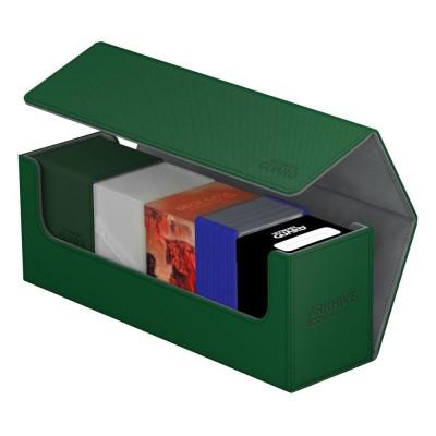 Boites de Rangements Accessoires Pour Cartes Deck Box - ArkHive Flip Case XenoSkin 400 - Vert