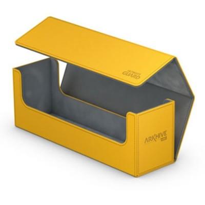 Boites de Rangements Accessoires Pour Cartes Deck Box Ultimate Guard - ArkHive Flip Case XenoSkin 400 - Jaune - ACC