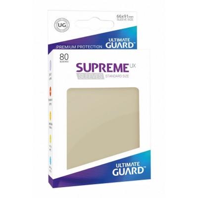 Protèges Cartes Accessoires Pour Cartes 80 Pochettes Ultimate Guard - Sleeves Supreme Ux - Sable - Acc