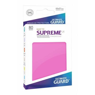 Protèges Cartes Accessoires Pour Cartes 80 Pochettes Ultimate Guard - Sleeves Supreme Ux - Rose Matte - Acc