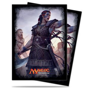 Protèges Cartes illustrées Magic the Gathering Commander 2016 - 120 Pochettes - Commander 2016 - Saskia l'inflexible
