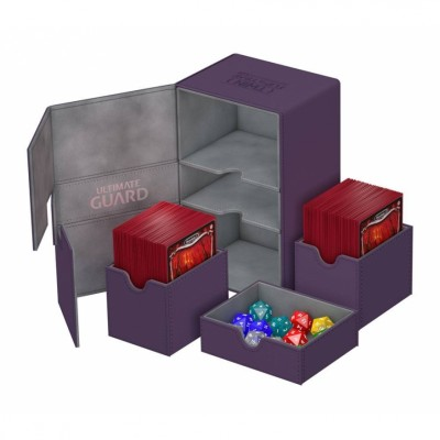 Boites de Rangements Accessoires Pour Cartes Deck Box Ultimate Guard - Double 160 - Violet - T3+ - Acc