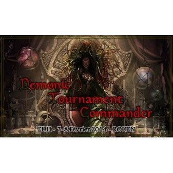 Tapis de Jeu  Playmat Promo - Edh - Demonic Tournament Commander 4