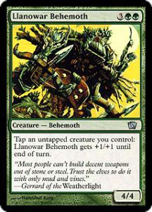 Grande Carte Oversized Magic the Gathering Oversized Box Toppers - Llanowar Behemoth