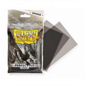 Protèges Cartes Accessoires Pour Cartes 100 pochettes Dragon Shield - Perfect Fit - Smoke