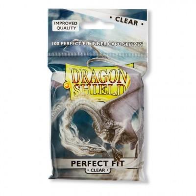 Protèges Cartes Accessoires Pour Cartes 100 pochettes Dragon Shield - Perfect Fit - Clear - ACC