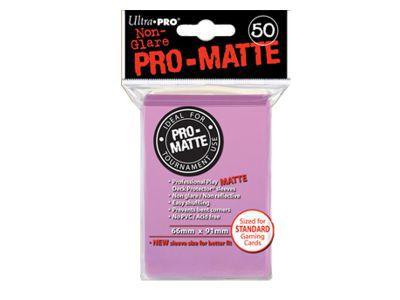 Protèges Cartes 50 pochettes - Pro Matte - Rose