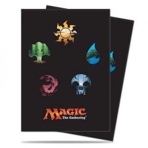 Protèges Cartes illustrées 80 Pochettes - Deck Protector - Mana 5 Symbols