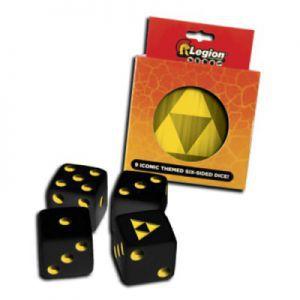 Dés et compteurs Accessoires Pour Cartes Legion - 9x D6 Dice Tin - Iconic Tri-force - Acc