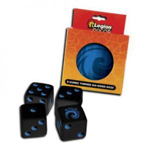 Dés et compteurs Accessoires Pour Cartes Legion - 9x D6 Dice Tin - Iconic Water - Acc