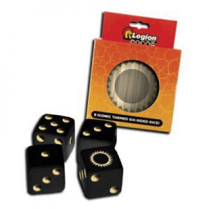 Dés et compteurs Accessoires Pour Cartes Legion - 9x D6 Dice Tin - Iconic Sun - Acc