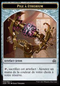 Tokens Magic Accessoires Pour Cartes Token/Jeton - Révolte Ethérique N°3 - Etherium Cell/pile à Etherium