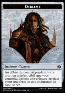 Tokens Magic Accessoires Pour Cartes Token/Jeton - Révolte Ethérique N°4 - Emblême Tezzeret