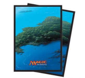 Protèges Cartes illustrées Magic the Gathering Unhinged - 80 Pochettes - Île
