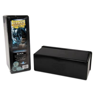 Boites de Rangements Accessoires Pour Cartes Deck Box Dragon Shield - Boite De Rangement  4 Compartiments - Noir - Acc