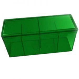 Boites de Rangements Accessoires Pour Cartes Deck Box Dragon Shield - Boite De Rangement 4 Compartiments - Vert - Acc