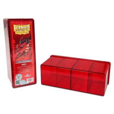 Boites de Rangements Accessoires Pour Cartes 4 Compartiments - Rouge