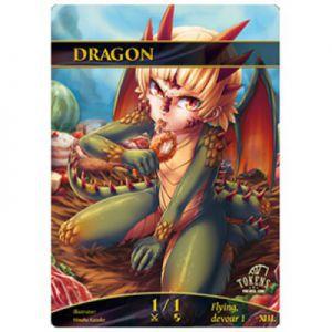 Tokens Magic Token/jeton foil - Dragon (Poulet)