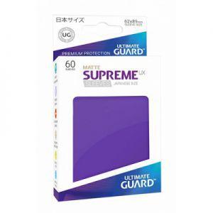 Protèges Cartes Accessoires Pour Cartes 60 Pochettes Ultimate Guard - Taille Small - Sleeves Supreme Ux - Violet Matte - Acc