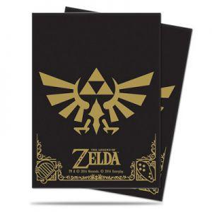 Protèges Cartes illustrées Accessoires Pour Cartes 65 Pochettes - The Legend of Zelda - Black and Gold