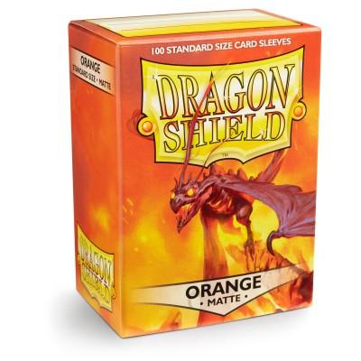 Protèges Cartes Accessoires Pour Cartes 100 Pochettes Dragon Shield Matte - Orange - Acc