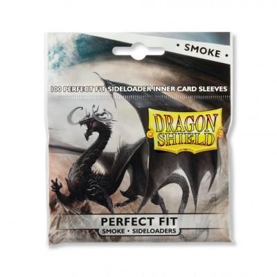 Protèges Cartes Accessoires Pour Cartes 100 Pochettes Dragon Shield - Perfect Fit Sideloading - Smoke - Acc
