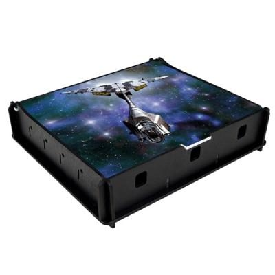 Boites de rangement illustrées  Box e-Raptor - Trading Card Storage Small Box - Space Fighter