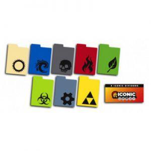 Boites de rangement illustrées Legion- 8 Séparateurs De Cartes [deck Dividers] - Symboles Iconic - Acc