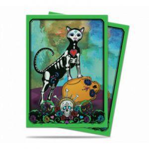 Protèges Cartes illustrées Accessoires Pour Cartes 50 Pochettes Ultra Pro - Dia De Los Muertos - Cat - ACC