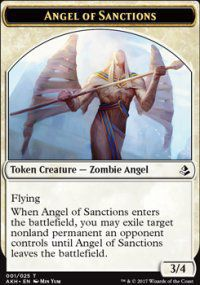 Tokens Magic Magic the Gathering Token/jeton - Amonkhet - 01/25 Ange Des Condamnations