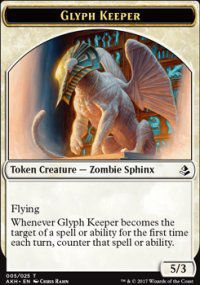 Tokens Magic Magic the Gathering Token/jeton - Amonkhet - 05/25 Gardien Des Glyphes