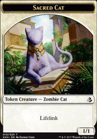 Tokens Magic Accessoires Pour Cartes Token/jeton - Amonkhet - Chat Sacré