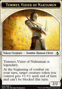Tokens Magic Token/jeton - Amonkhet - 12/25 Temmet, Vizir De Naktamon