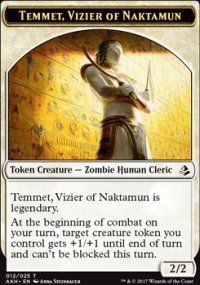 Tokens Magic Magic the Gathering Token/jeton - Amonkhet - 12/25 Temmet, Vizir De Naktamon