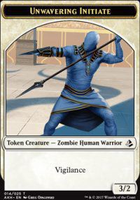 Token Magic Magic the Gathering Token/jeton - Amonkhet - 14/25 Adepte Inébranlable