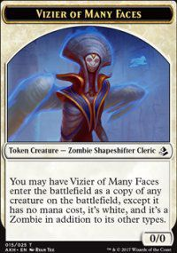 Tokens Magic Magic the Gathering Token/jeton - Amonkhet - 15/25 Vizir Aux Nombreux Visages