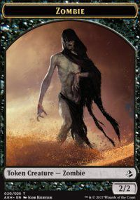 Token Magic Magic the Gathering Token/jeton - Amonkhet - 20/25 Zombie