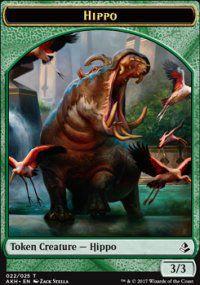 Tokens Magic Token/jeton - Amonkhet - 22/25 Hippopotame