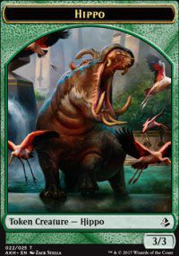 Tokens Magic Magic the Gathering Token/jeton - Amonkhet - 22/25 Hippopotame