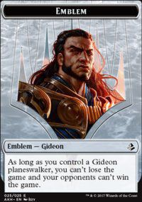 Token Magic Magic the Gathering Token/jeton - Amonkhet - 25/25 Emblème Gideon Des épreuves