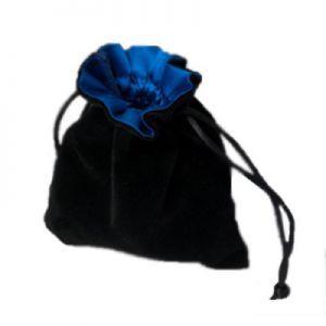 Dés et compteurs Accessoires Pour Cartes Petit sac à dés velour - Noir/Bleu - ACC