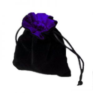 Dés et compteurs Accessoires Pour Cartes Petit sac à dés velour - Noir/Violet - ACC