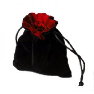 Dés et compteurs Accessoires Pour Cartes Petit sac à dés velour - Noir/Rouge - ACC