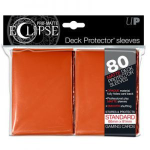 Protèges Cartes  80 pochettes - Deck Protector Eclipse - Orange