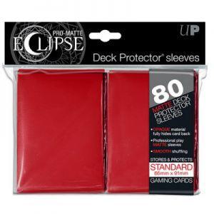 Protèges Cartes 80 pochettes - Deck Protector Eclipse - Rouge