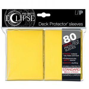 Protèges Cartes Accessoires Pour Cartes 80 pochettes Ultra Pro - Jaune - Eclipse - ACC